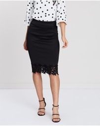 Dorothy Perkins - Plain Lace Contrast Pencil Skirt