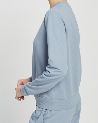 Atmos&Here Sofia Sweat Top - Sweats (Cornflower Blue)