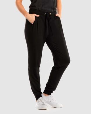 Deshabille Wanderlust Travel Pants in Bag - Pants (Black)