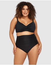 Artesands - Hues Black Raphael High Waist Ruched Swim Pant