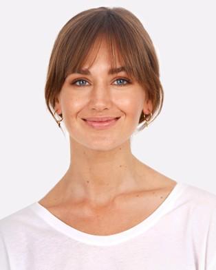 Australia Elli Jewelry - Earrings Hanger Creole Triangle Geo 925 Sterling Silver Gold Plated Jewellery (Gold)