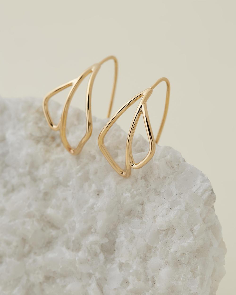 Soko Waridi Threader Earrings Jewellery Gold