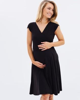 Bamboo Body – Wrap Dress Black
