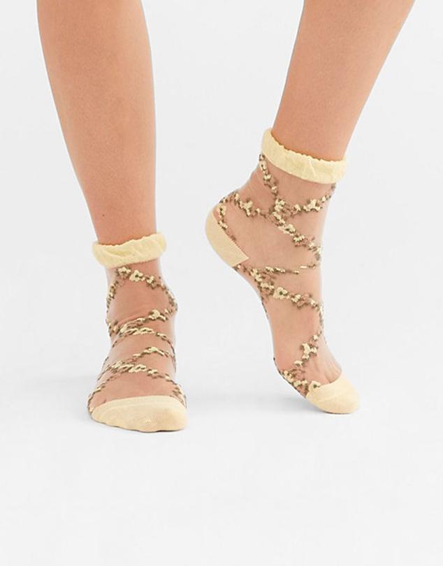 Women Flower Trellis Sock