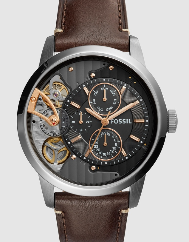 Fossil - Townsman Dark Brown Mechanical Automatic Watch