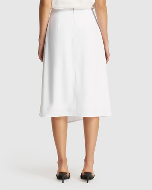 FRIEND of AUDREY Leigh Wrap Skirt - Pencil skirts (White)