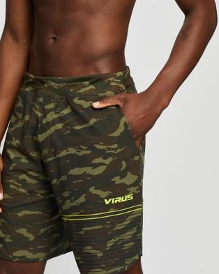 Virus Velocity Training Shorts - Shorts ( OD Camo & Hazard Yellow)