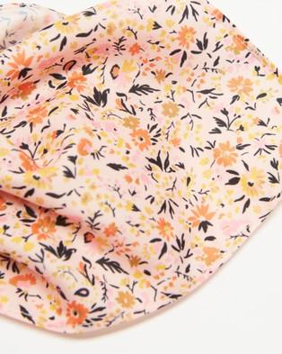 Tie Lab - Floral Recycled Pocket Square - Pocket Squares (Orange) Floral Recycled Pocket Square