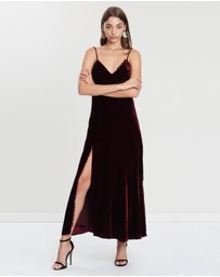 Nicholas - Silk Velvet Slip Panel Dress