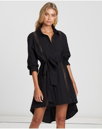 The Fated - Marsala Shirt Dress