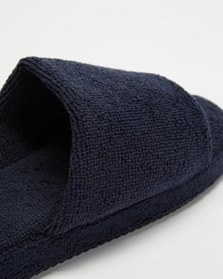 Staple Superior Ibiza Terry Towelling Slides - Sandals (Navy)