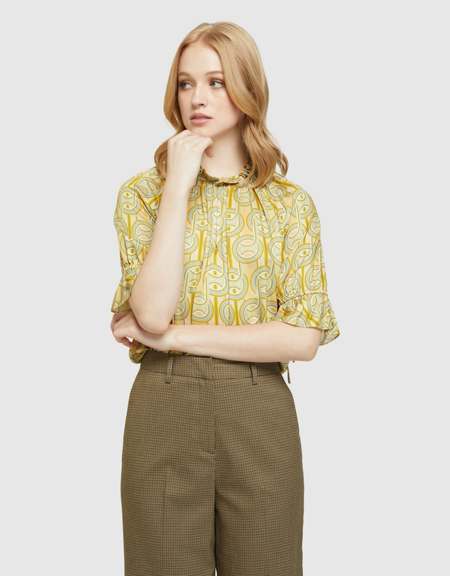 Oxford - Parker Geo Print Top