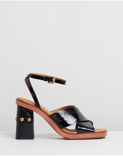 See By Chloé - Leather Stud Sandal Heels
