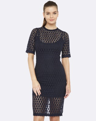 Oxford – Lacie Spotted Dress – Dresses (Blue)