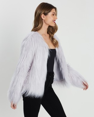 Unreal Fur Unreal Dream Jacket - Coats & Jackets (Cloud Smoke)