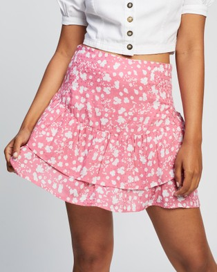 All About Eve Abstract Ditsy Mini Skirt - Skirts (PRINT)