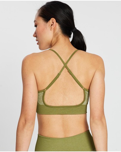 Doyoueven Impact Seamless Crop Olive Green