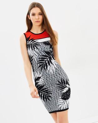 Karen Millen – Fern Knit Pencil Dress – Bodycon Dresses Multi