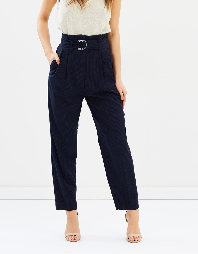 women popular style hot new products Buckle High-Waist Trousers