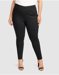 Forever New Curve - Sophie Mid Rise Curve Pull On Pants