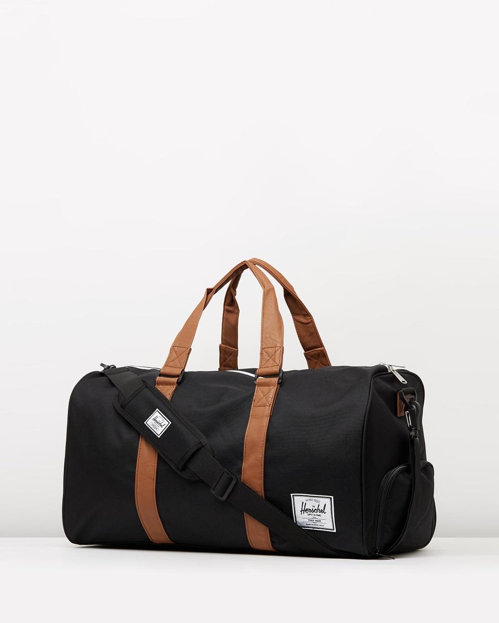 Herschel Novel Duffle Bags Black & Tan Australia