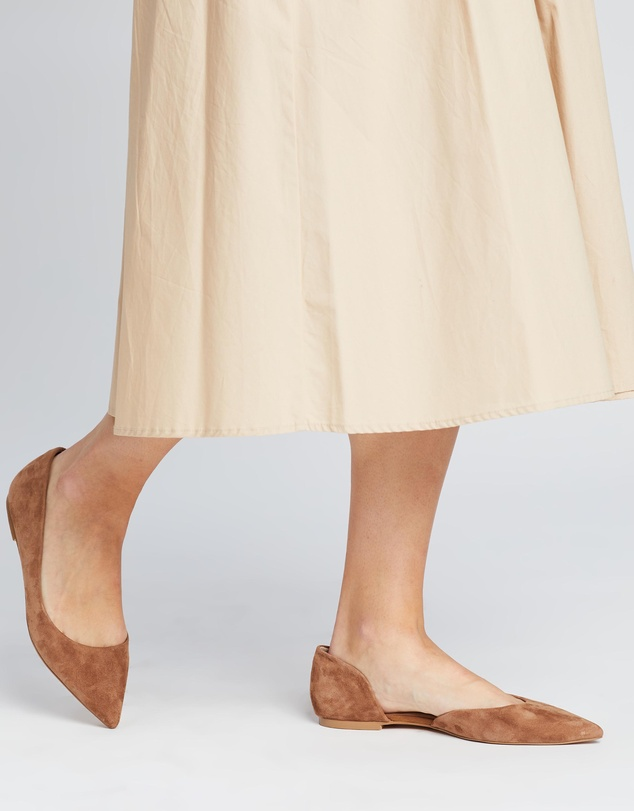 Women Kasey Leather d'Orsay Flats