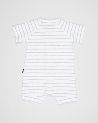 Bonds Baby Short Sleeve Romper   Babies - Shortsleeve Rompers (White & Grey Marle)
