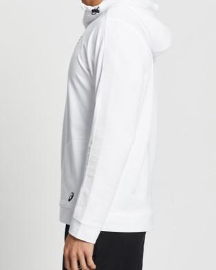 ASICS Future Tokyo Thermopolis Fleece 1 2 Hoody   Men's - Coats & Jackets (Brilliant White/Performance Black)
