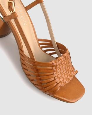 Airflex Ultimo Block Heel Sandals - Sandals (Tan)
