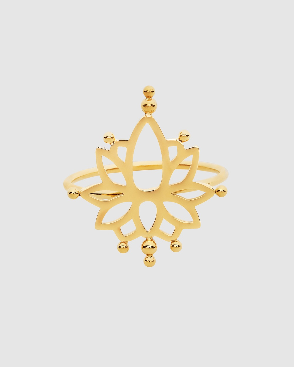 Pastiche Water Lily Ring Jewellery Gold