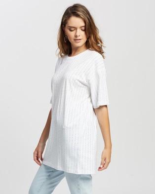 TOPSHOP PETITE Crystal Tunic - T-Shirts & Singlets (White)