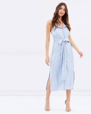 Lumier – The Searches Button Down Maxi Dress