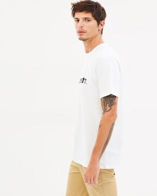 Carhartt SS Script T Shirt - T-Shirts & Singlets (White & Black)
