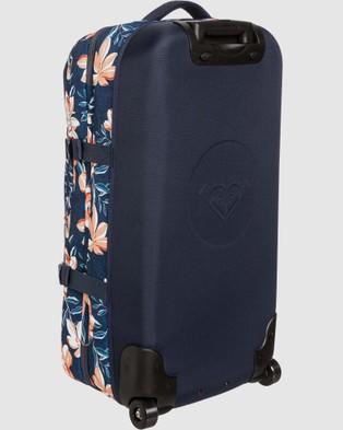 Roxy Fly Away Too 100L Large Wheeled Suitcase - Travel and Luggage (MOOD INDIGO HAPPY DA)