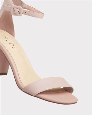 Nude Silence - Mid-low heels (NUDE LEATHER)