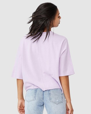 Cotton On The Easy Short Sleeve Crew Tee - T-Shirts & Singlets (Frosty Lilac Garment Pigment Dye)