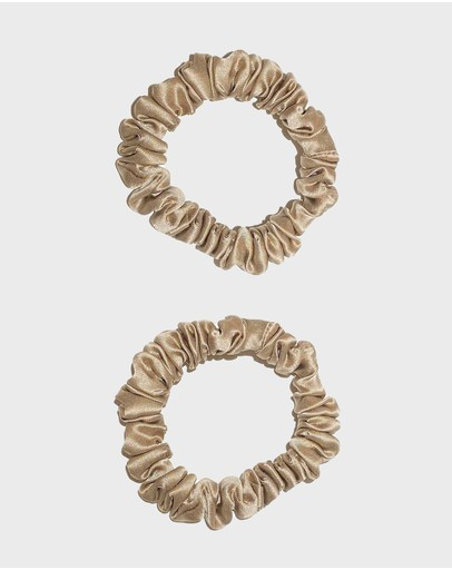 Masqe - 2 x Thin Silk Scrunchie