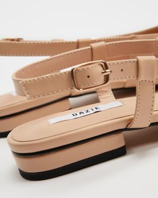 Dazie Jersey Flats - Ballet Flats (Beige & Black Lizard)