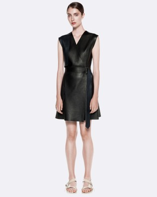 Dion Lee – Double Face Trench Dress – Dresses (Black & Navy)
