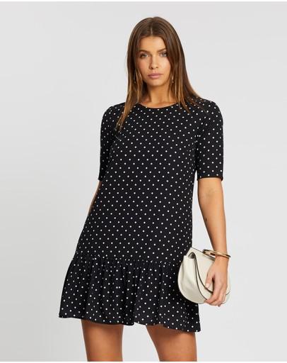 Atmos&here Saskia Polka Dot Dress Black With White Spot