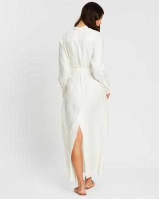 BONDI BORN Utility Long Dress - Dresses (White)