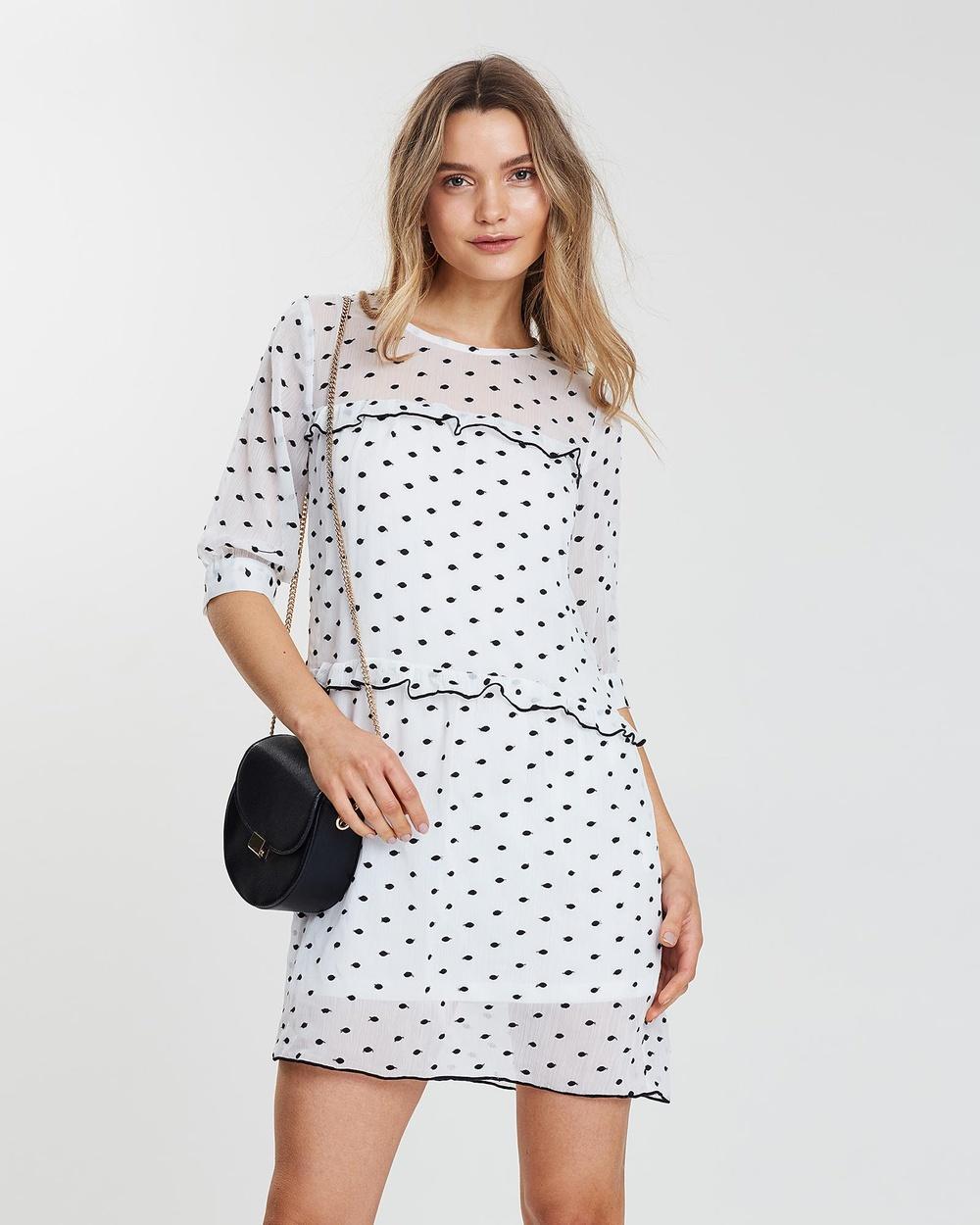 Wish White Unforgettable Mini Dress