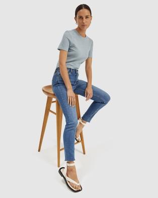SABA Lucille Textured Tee T-Shirts & Singlets blue