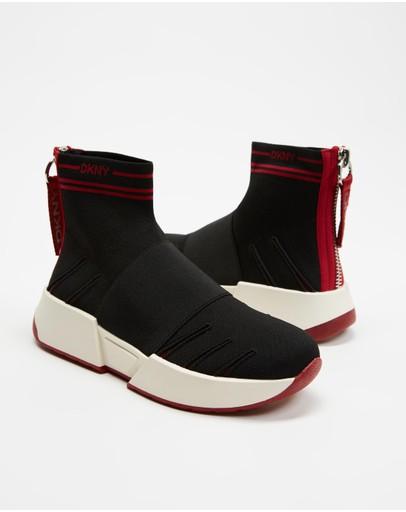 Dkny Marini Slip-on Sneakers Black & Red