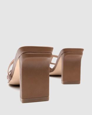 Covet Shoes - Tessa Block Heels Mid-low heels (Tan)
