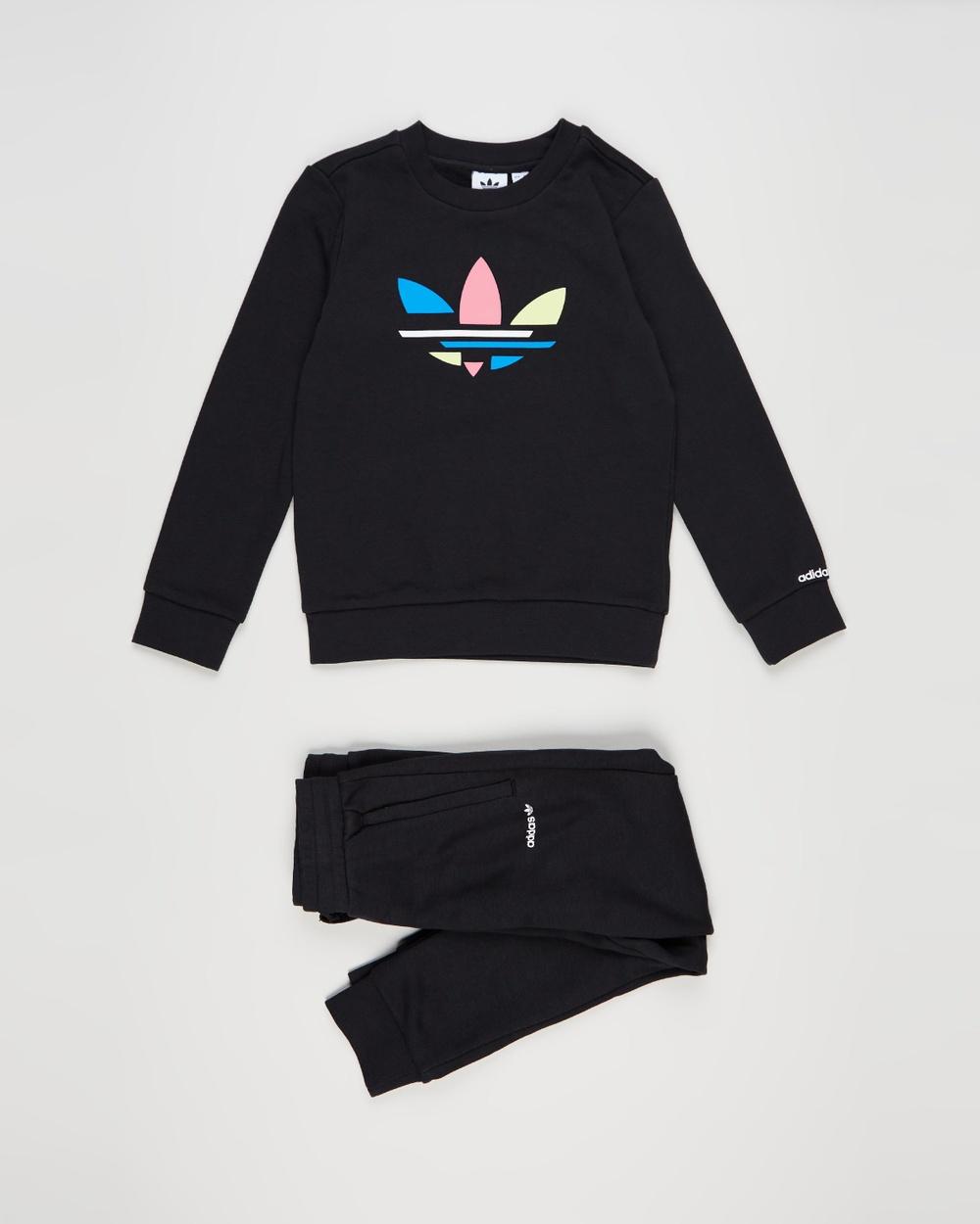 adidas Originals Adicolor Crew Set Kids Sweats Black