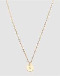 Dear Addison - Initial S Letter Necklace