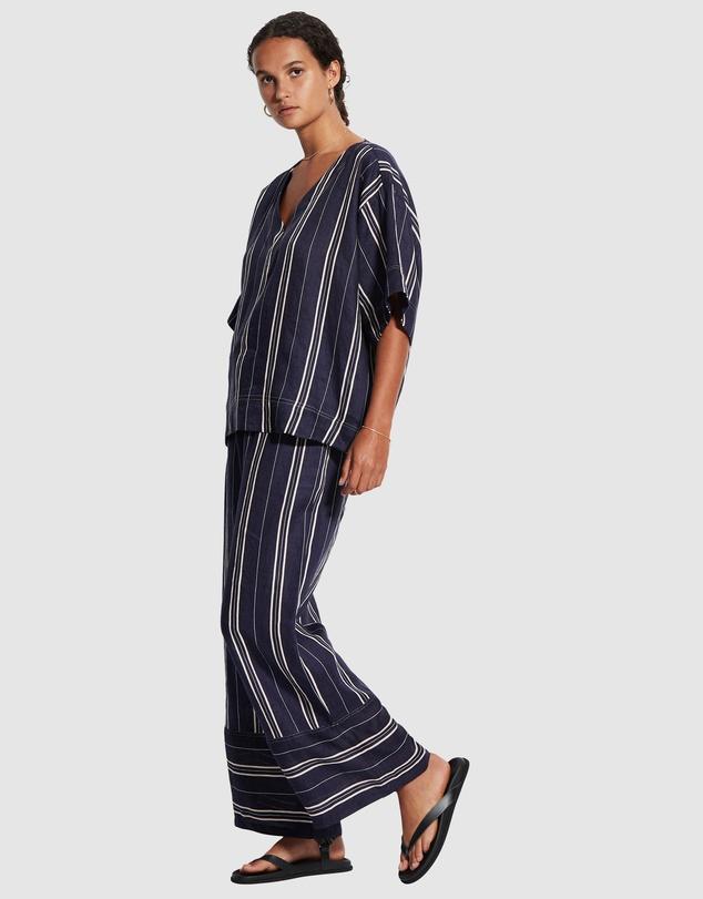 Women Sand Stripe Top