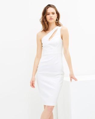Grace Willow – Natalie One Shoulder Dress – Bodycon Dresses White
