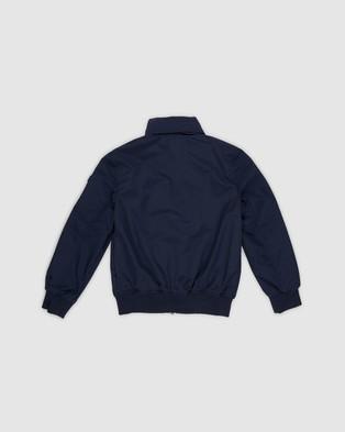 Tommy Hilfiger - Essential Logo Collar Hooded Jacket Kids Coats & Jackets (Twilight Navy)